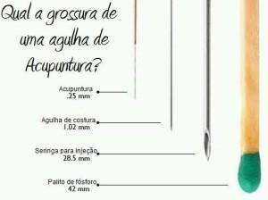 Espessura Agulha Acupunctura